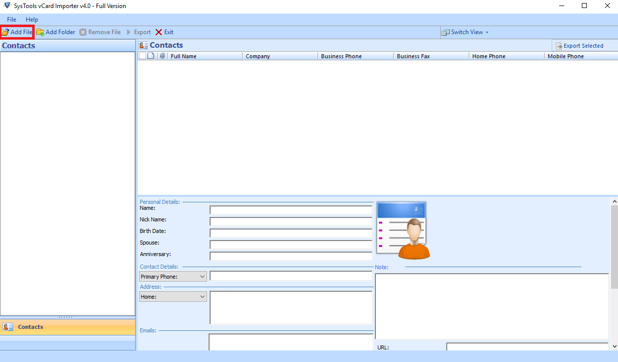 Automatically Save a vCard to Outlook Contacts