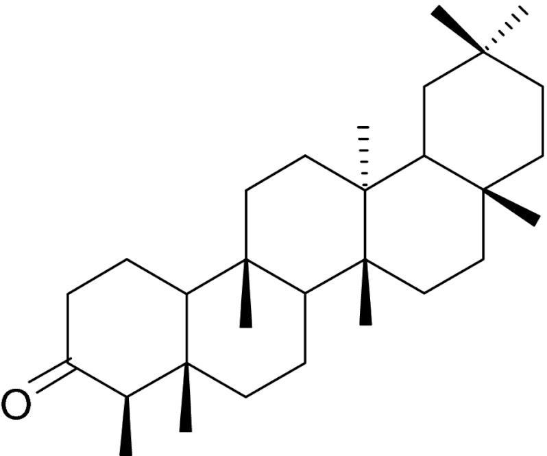 Image result for Friedelin structure