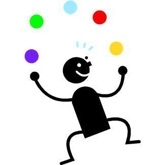 entertainment,juggling,people,circus,kids,cartoons,colorful balls,occupations