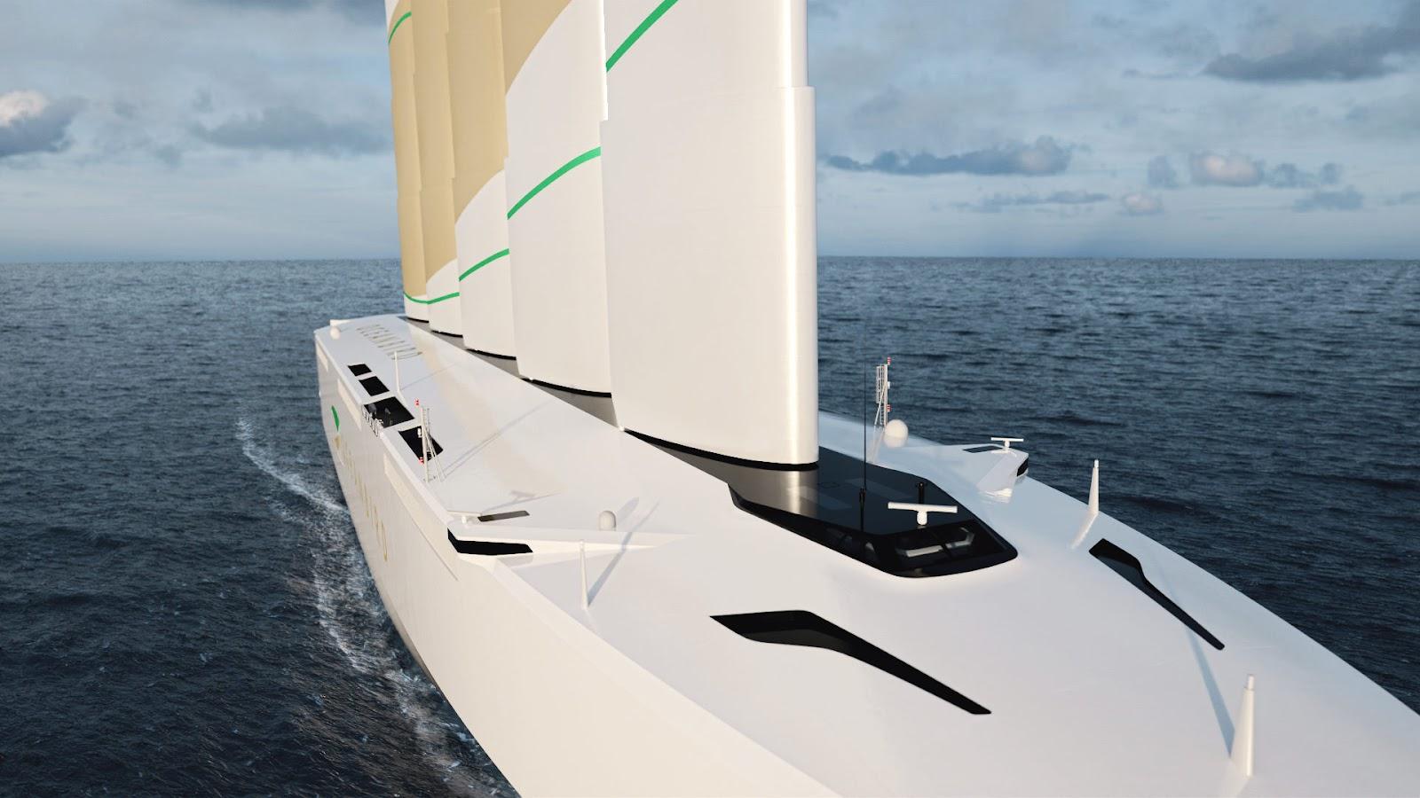 navio movido a energia eólica