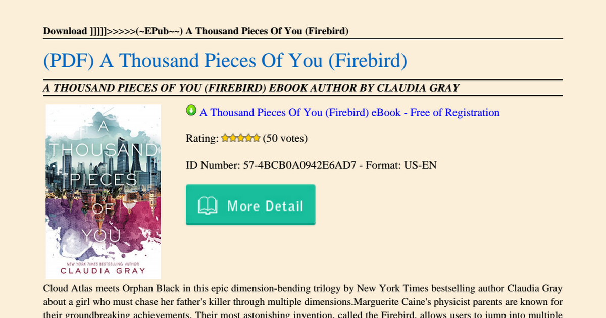 a thousand pieces of you ebook free download