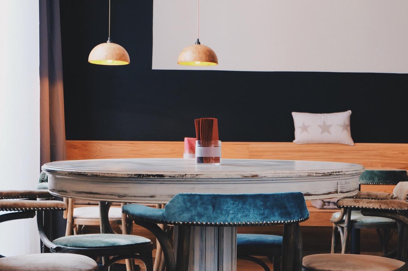 Decoración de cafeterías de estilo vintage