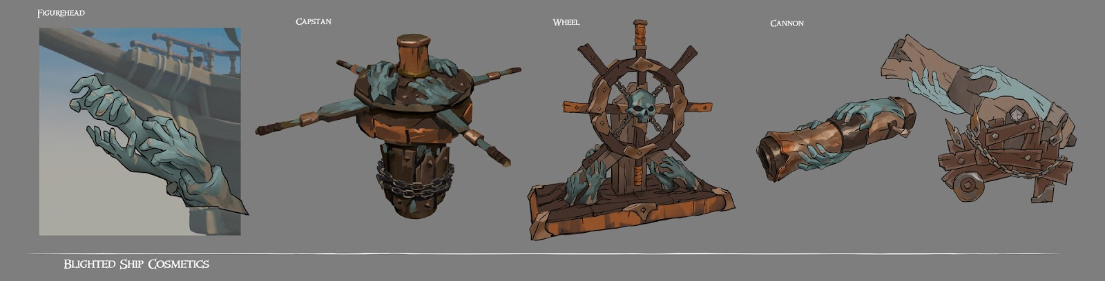 Set zombie - Blighted Ship - SoT