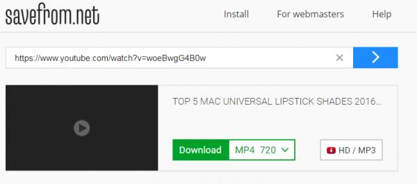 تحميل فيديو من يوتيوب من خلال موقع SaveFrom.net