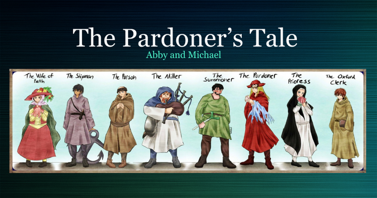 pardoners tale Quiz covers the pardoner's tale from the canterbury tales by chaucer.