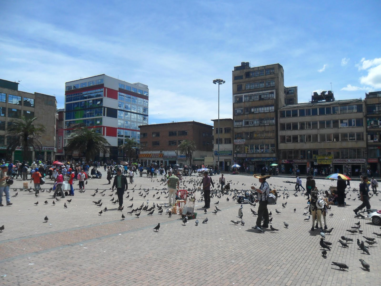 San Victorino square, formerly used by informal commerce, Bogota, Colombia