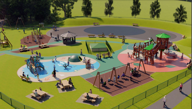 Artist impression of the proposed refurbishment of Decoy Play Park