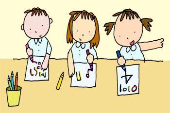 Картинки по запросу картинки дети учатся писать