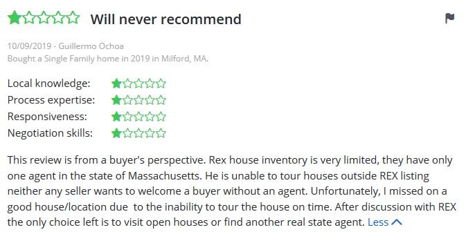 rex real estate complaint