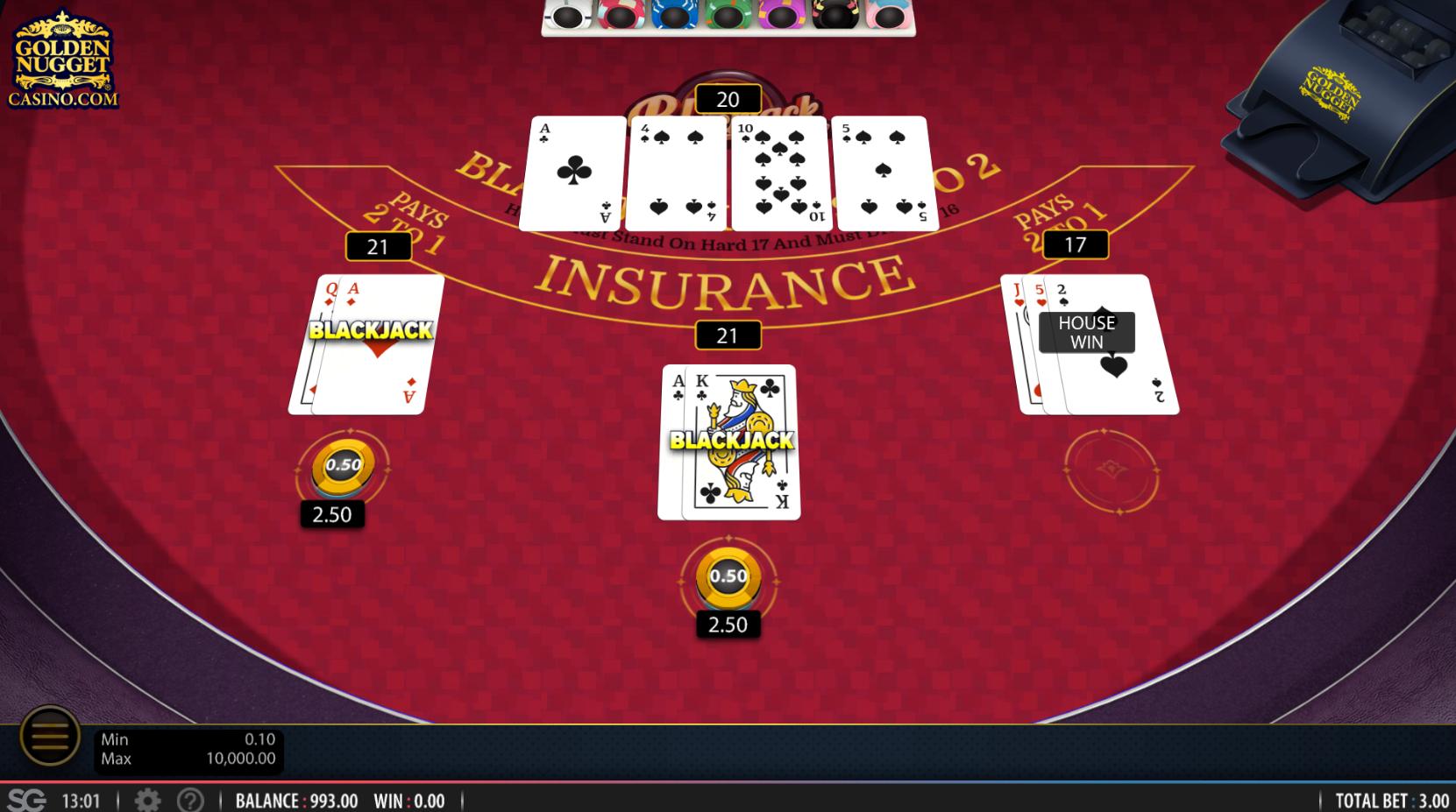Golden Nugget Online Blackjack