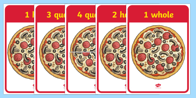 FREE! - Pizza Fractions (teacher made)