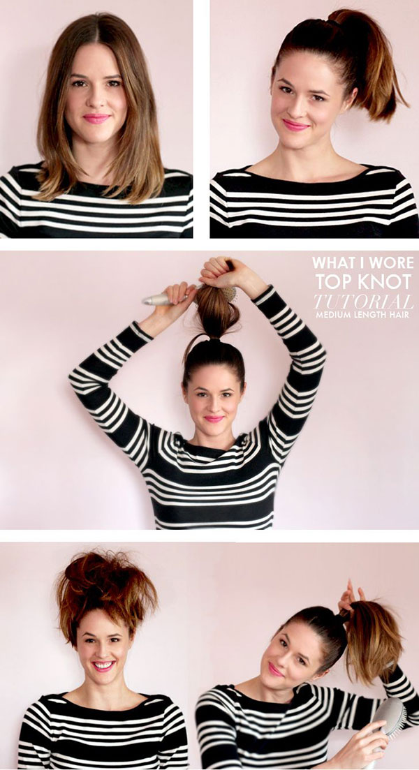 15 Cute And Easy Hairstyle Tutorials For Medium Length Hair
