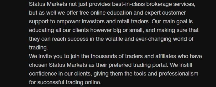 Status Markets scam broker review review