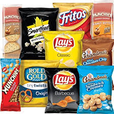 Group of snacks for on the go