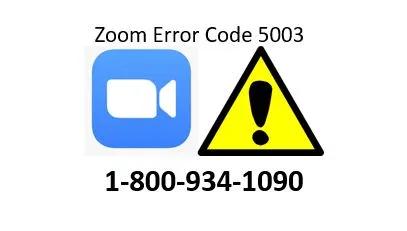 Zoom Error Code 5003, 5000, 5004