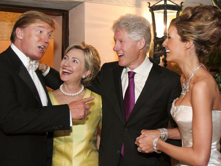 trump - clintons