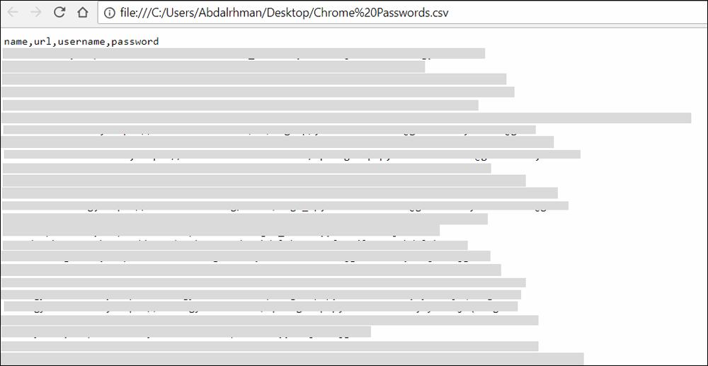 كلمات السر المحفوظة في جوجل كروم ٣