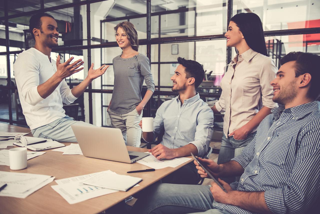 Kommunizieren während einem Meeting