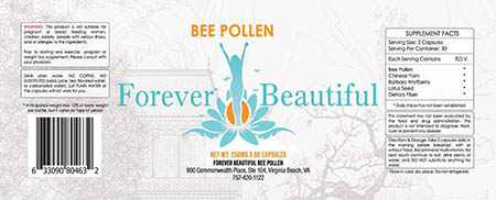Forever Beautiful Bee Pollen Capsules