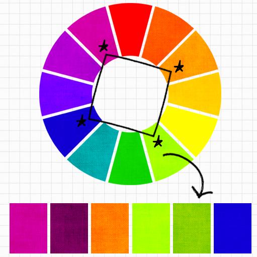 Chọn màu hình vuông