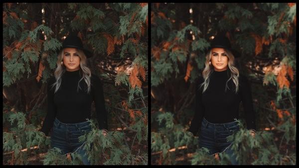 Antes e depois das edições