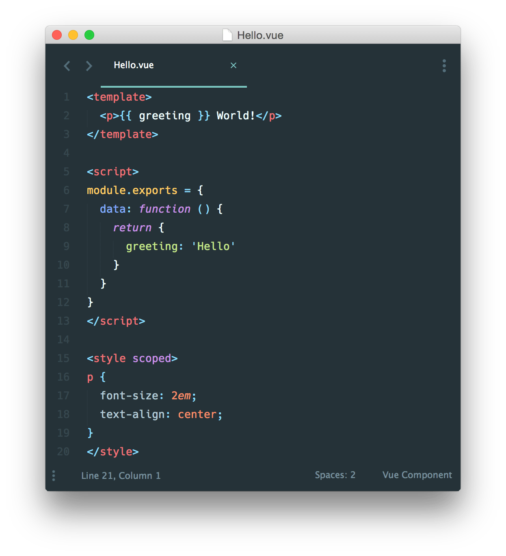 Single File Component do Vue