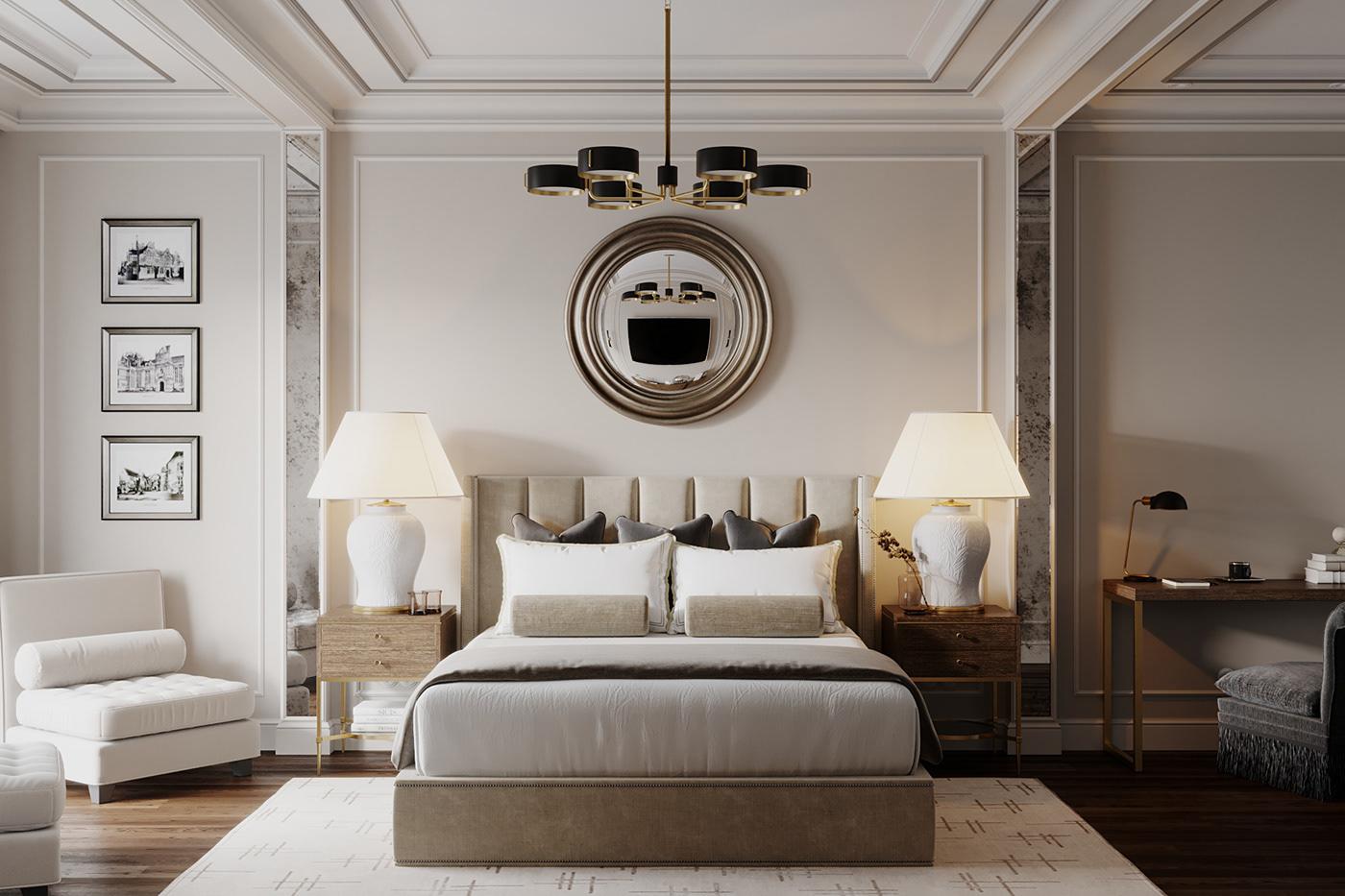 Mẫu thiết kế phòng ngủ chung cư diện tích rộng