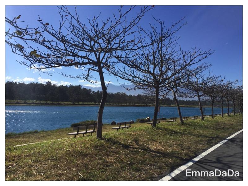 活水湖旁景色