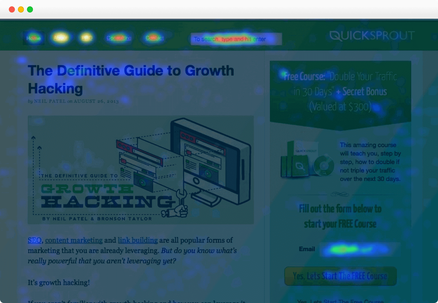 crazyegg landing page tool