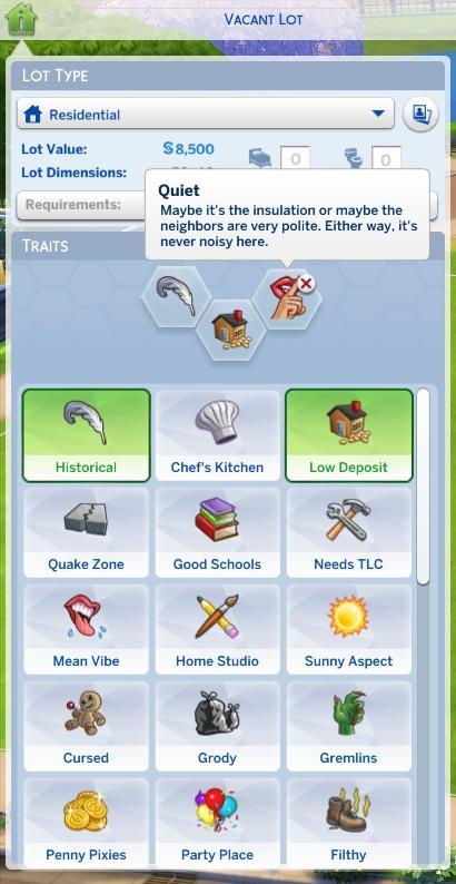 Sims 4 Trait mod - Unlocked Lots
