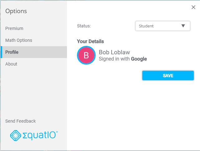Equatio Sign in icon
