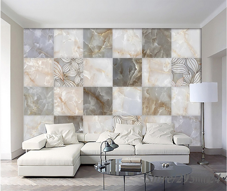 Decorate The Living Room Wall With Tiles