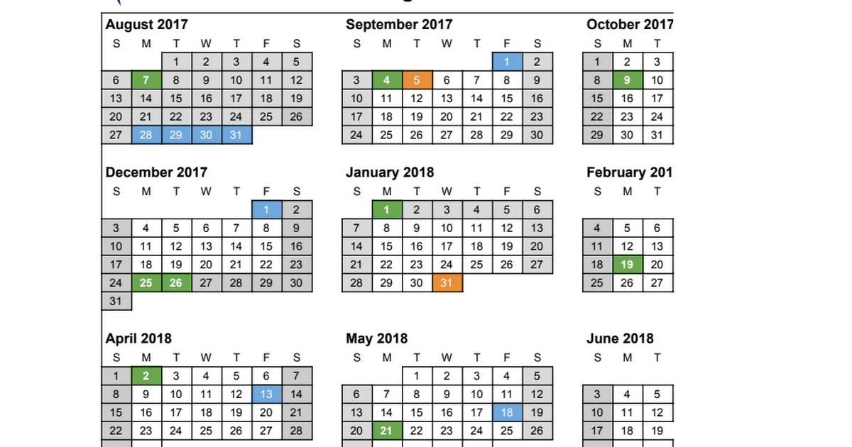 Thumbnail for Donalda School Learning Calendar 2017 - 18