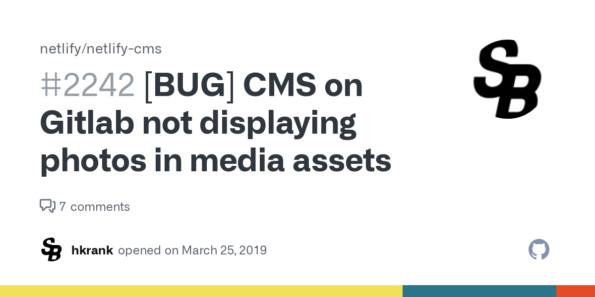 Media not displaying an error message. Source: Github - Troubleshoot Content Management System - The Rev