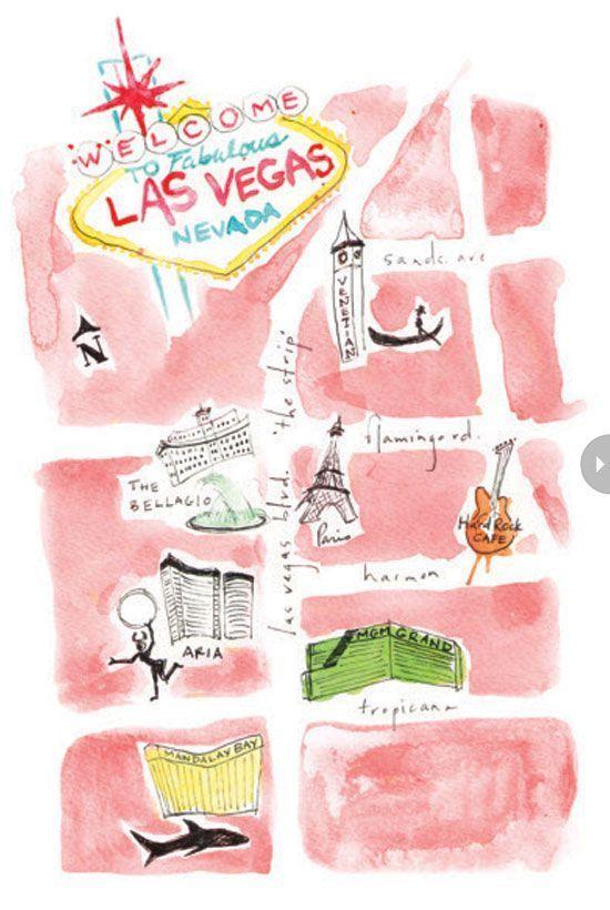 לאס וגאס מפה איך להתמצא בווגאס מה לעשות איפה נמצאים