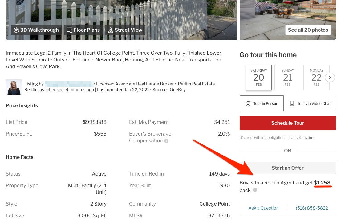 Redfin reviews amount