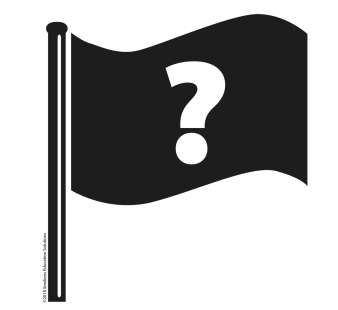 A flag icon with a question mark on it.