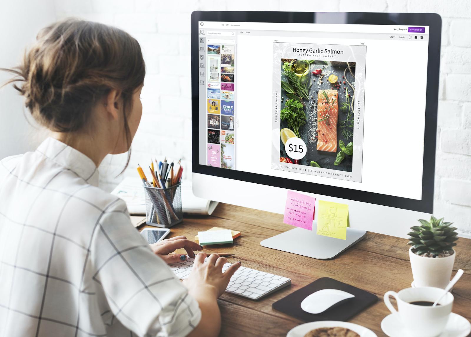 Designing an amazing template using free online design tool - Designmaker.