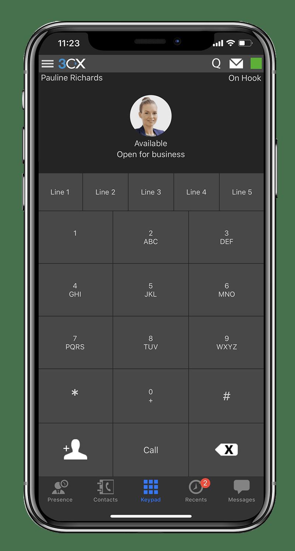 980d233955c Usando la App 3CX para iOS - Realice llamadas desde donde sea