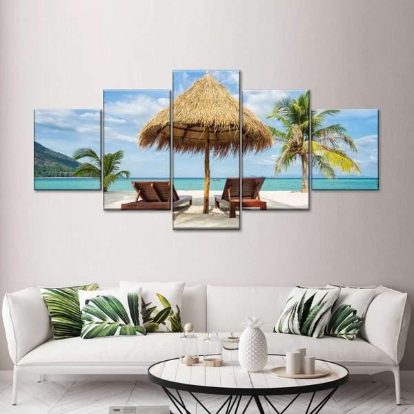 Andaman Tranquility Multi Panel Canvas Wall Art