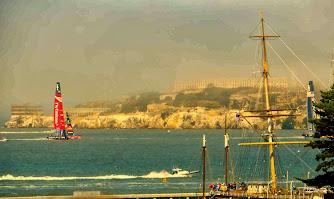Team Emirates sailing at America;s Cup