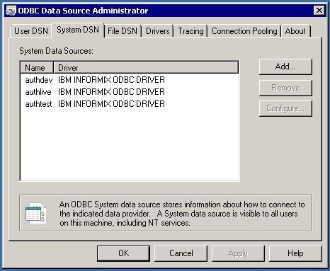 INFORMIX IBM DRIVER ODBC