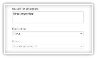 Escalation Module in KaiNexus screenshot 2