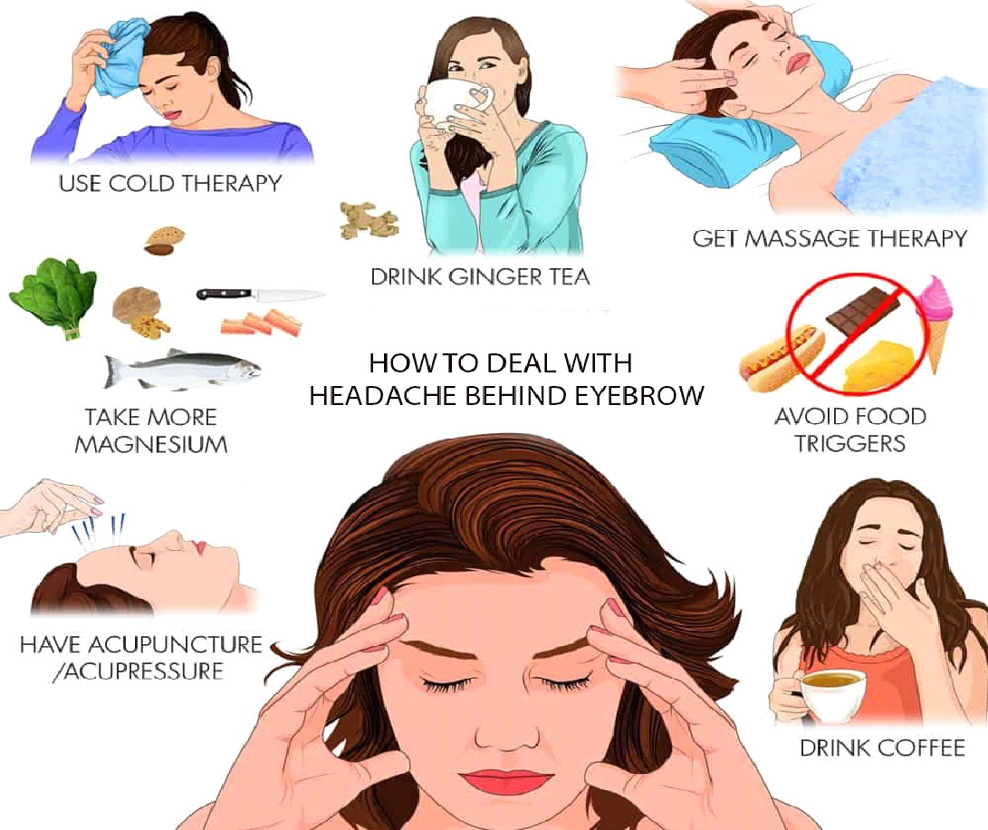 tips to relief of Headache behind your eyebrows