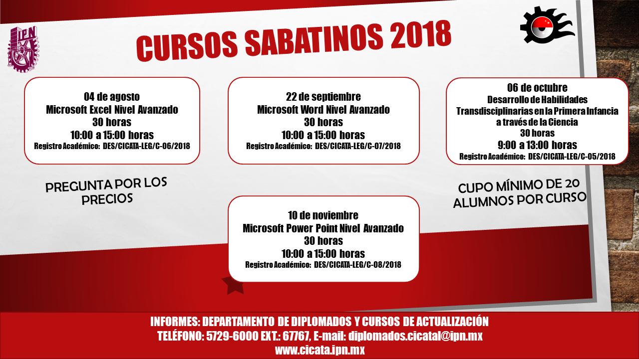 Cursos Sabatinos 2018