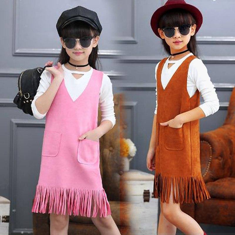 Sukienka z frędzlami dla dziewczynki