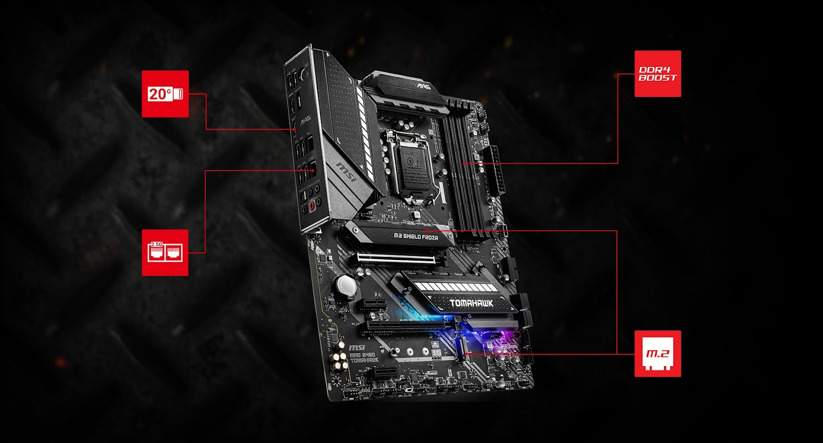 Creator B460 motherboard and a video card