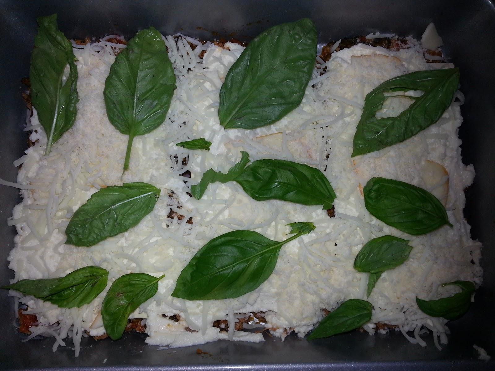 basil lasagna