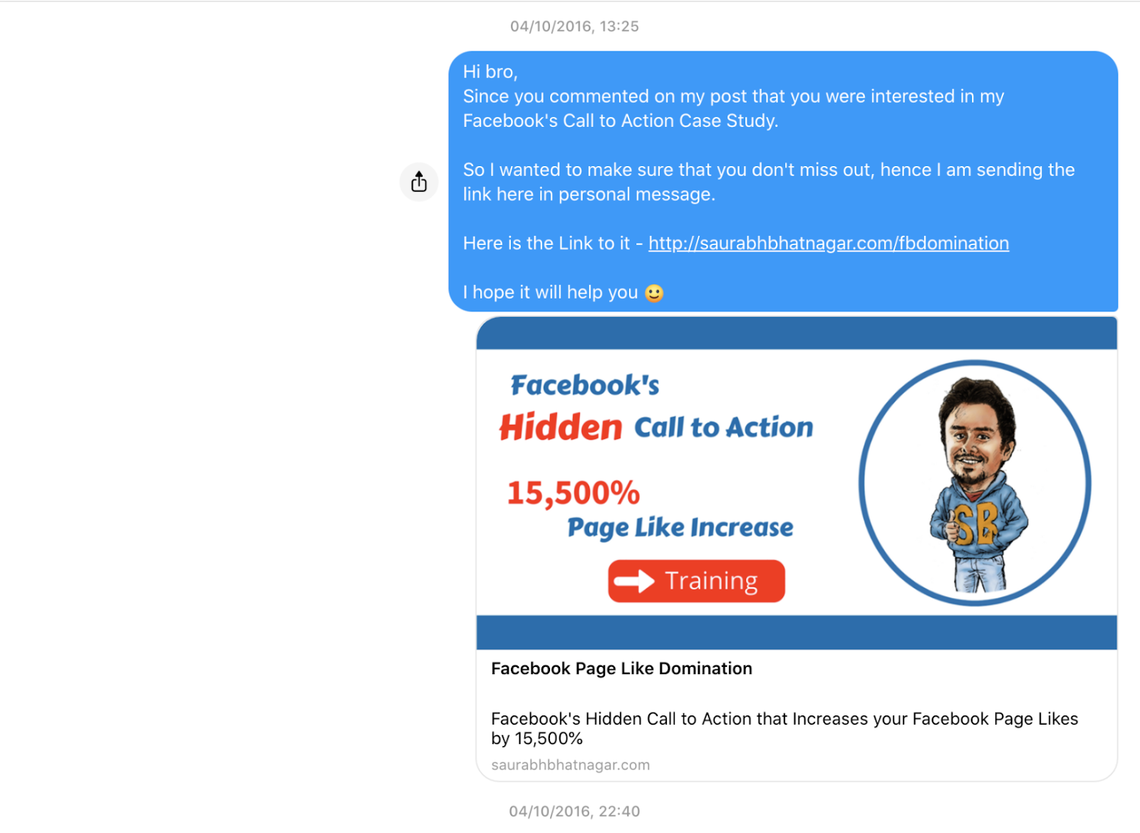 my first $100 online earning saurabh bhatnagar messages his prospects to enroll