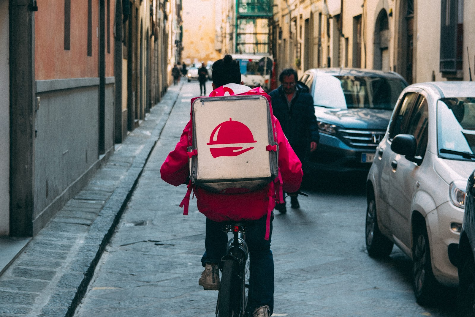 bike food delivery courier options